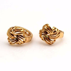 """Jewelry - 😘CLASSY 18k Yellow Gold Filled """"Knot"""" Earrings😘"""